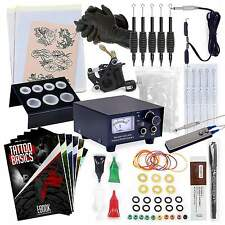 Complete Beginner Tattoo Machine Kit- Gun Equipment Inks Power Supply Needle Set