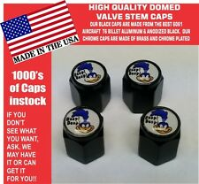 4 Domed Aluminum Plymouth Super Bird Road Runner Valve Stem Caps NO ABS Plastic