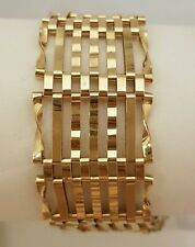 (1)BEAUTIFUL 9CT GOLD 7 ROW GATE BRACELET WITH FULL BRITISH HALLMARK