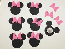 Disney Minnie Mouse w/pink bow 2.5 inch head Cricut Die Cuts/punches set of 30