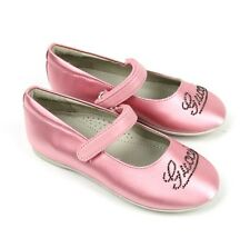 """New Authentic Gucci Kids """"Daisy"""" Ballet Flat w/Strass, 28/US 11,Pink 271318"""