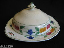 ART DECO HAND-PAINTED CHEESE/BUTTER DISH Lawleys of Regent Street c.1934-1940