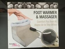 Brand New Serenity Beauty Double Foot Warmer and Massager in BLACK RRP £99.99