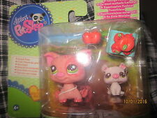 Littlest Pet Shop LPS Mommy and Baby Pig ##2672 # 2673 NEW