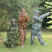 3D Camo leaf SUIT GHILLIE Jungle Sniper Training Clothing Hunting Ghillie Suit