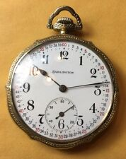Nice 12 Size Gold Filled Illinois Burlington 21 Jewel Pocket Watch
