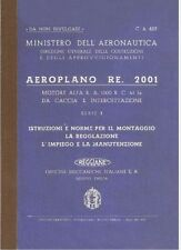 REGGIANE Re2001 1942 Falco 1a 2a Serie CA493 AIRCRAFT Nomenclatore  - DVD