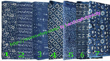 Wholesale Lot Of Indigo Color Hand Block Print Fabric Dabu Work Cotton 5 Yards