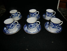 Set di Sei Royal Worcester Caffè Tazza e Piattini Datato 1908
