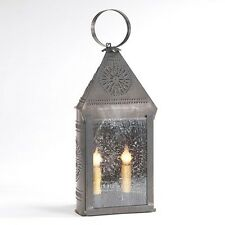 Hospitality Lantern in Blackened Tin | Country Colonial Accent Table Light