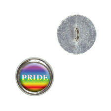 Rainbow Spectrum Pride - Gay Lesbian - Craft Sewing Novelty Buttons Set of 4