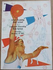 1953 Joliet Township High School vs. Lockport Twnshp Basketball Program Illinois