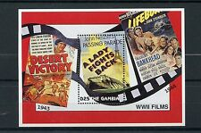 Gambie 1995 neuf sans charnière wwii films ve day 50th ann fin WW2 1v s/s tour eiffel timbres
