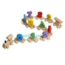 Wood Mini Railway Toy Digital Number  Train Figures  Educational Tools For Kids