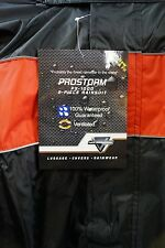 NELSON RIGGS MOTORCYCLE  RAIN SUIT PROSTORM PS-1000 - MENS XXXL 3X BLACK RED