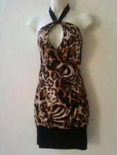 Women Clothes Leopard Dress Halter Top