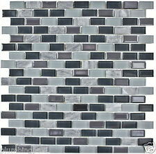 Brick Blue Glass, Slate Marble Kitchen Bath Wall Backsplash Mosaic Tile- 1