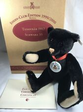 Steiff Club Edition Teddy Bear 1912 Black 35 Replica  1999/2000 - EAN 430160