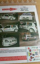 Decals promo 1/43 réf 740 Renault Clio S1600 Marschall Monte Carlo 2004