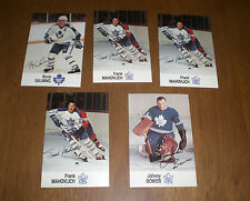 FIVE 1988-89 ESSO TORONTO MAPLE LEAFS HOCKEY CARDS BOWER - SALMING  - MAHOVLICH
