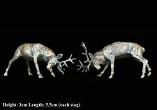 Stags Rutting Solid Bronze Foundry Cast Detailed Sculpture Butler & Peach (2051)