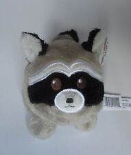 "ad RACCOON woodland tossimal Ganz 3.5"" beanbag NWT plush friend"