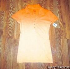 OLD NAVY ~ New! NWT Size XS ~ Sunny Orange OMBRE Polo Henley Shirt