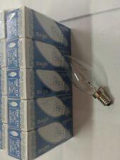 LOTTO STOCK PEZZI 10 LAMPADINE INCANDESCENZA E14 60 W OLIVA CHIARA