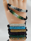 Crystal Shamballa Bracelet Long Tube Disco Clay Adjustable, **special offer**