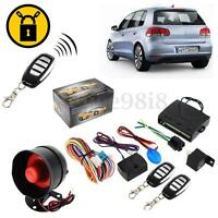 1-Way Car Vehicle System Keyless Entry Siren Alarm Protection Security +2 Remote