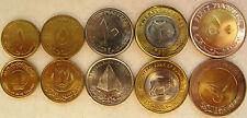 North Africa set of 5 coins 2006 (1+5+10+25+50 piastres) UNC 2 coins bimetallic