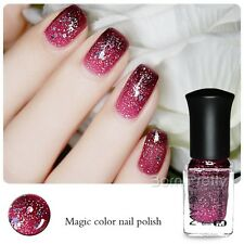 6 ml Nail Art Manucure Vernis à Ongles Couleur Changeable Peel Off Paillettes