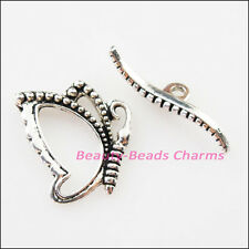 8Sets Tibetan Silver Lovely Animal Butterfly Bracelet Toggle Clasps Connectors