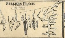 Miller Place & Sound Beach NY 1873 Maps with Homeowners Shown