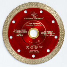 VD Turbo Rim Super Thin Mesh Diamond Blade Porcelain Granite Hard Tile 5 inch