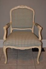 Ethan Allen Country French Duvall Chair Upholstered Carved Accent 13-7118-1