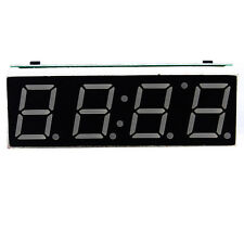 Blue Digital LED Electronic Time Clock + Thermometer + Voltmeter Car Auto /