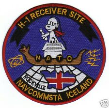 """US NAVY BASE PATCH, NAVCOMSTA ICELAND, H-1 RECEIVER SITE, NATO """"ROCKVILLE""""   Y"""