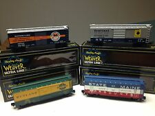 Lot of 4 O scale Weaver B&O,Rutland and State of Maine 40' Boxcars  3R C8