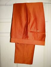 HOLLAND & SHERRY 160's MADE TO MEASURE TAILORED SLIM FIT DRESS TROUSERS W31/32