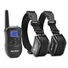 300 Yard Rechargeable Lcd 100Lv Level Shock Vibra Remote Control Dog Collar