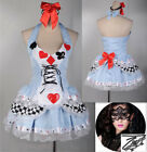 HOT Laides Alice In Wonderland Adult Halloween Costume Fancy Dress Cosplay S M L