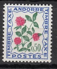 TIMBRE TAXE  ANDORRE FRANCE NEUF  N° 52  **  FLEURS DES CHAMPS