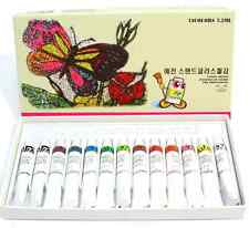 Stain Glass Paint 13 Colors 7.5ml Tube Set  brand new