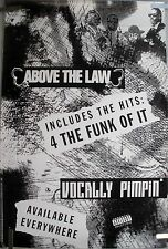 ABOVE THE LAW VOCALLY PIMPIN 1991 VINTAGE RAP HIP HOP MUSIC STORE PROMO POSTER