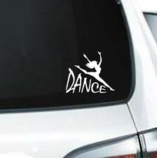 B136 Dance Split Leap Dancer Girl wall vinyl decal for car truck