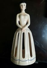 Vintage Lillian Vernon Porcelain Lady Napkin Holder Doll Beautiful Crazing