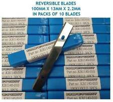 10 pces. 100mm x 13mm x 2.2mm SOLID TUNGSTEN CARBIDE REVERSIBLE TURN BLADES