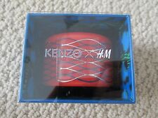NIB Auth Kenzo H&M Red Geometric Wavy Motif Lucite Cuff Bracelet SOLD OUT!