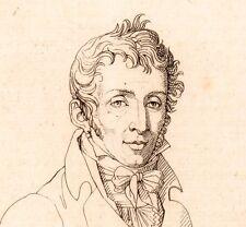 Portrait Carle Vernet Bordeaux Gironde Peintre Peinture 1821